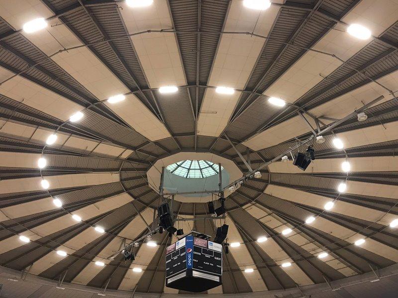 Cal State Retrofits its Coussoulis Arena  Using Satco's T5 LEDS